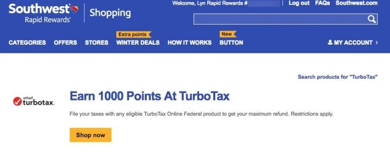 Earn Southwest Points Paying Taxes