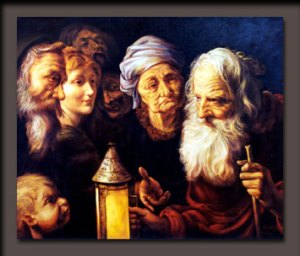 Diogenes and the lamp