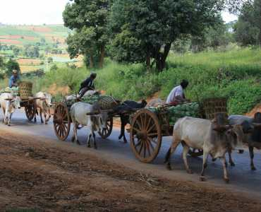 Road from Pindaya to Inle