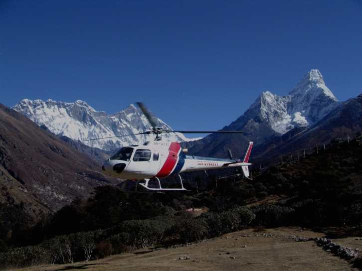 Helicopters in Bhutan