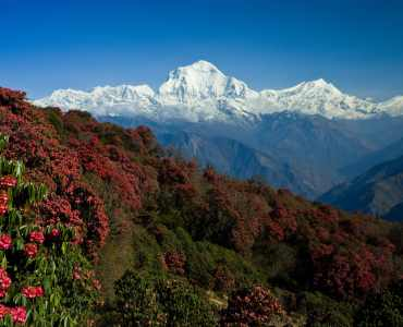 Beautiful landscape in Himalays, Annapurna region, Nepal