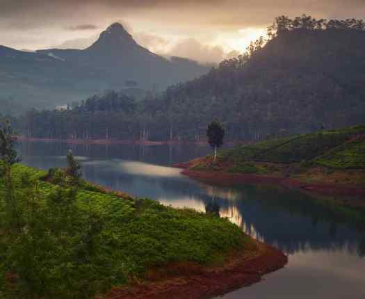 View of Adam's Peak Sri Lanka