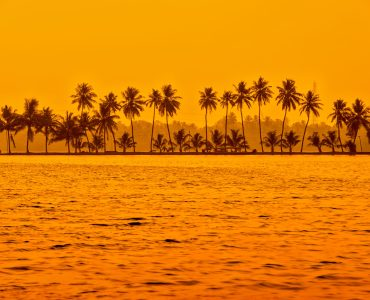 Sunset over Kerala Backwaters, India, Kerala Holidays - Holiday to Kerala
