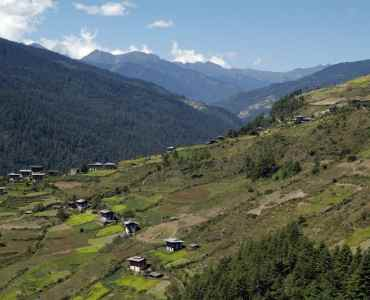Bhutan, Mountain village in Haa Valley