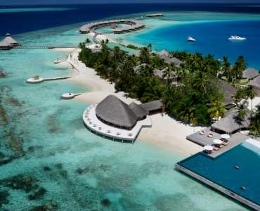 Huvafen Fushi Maldives Luxury Resort from the Air