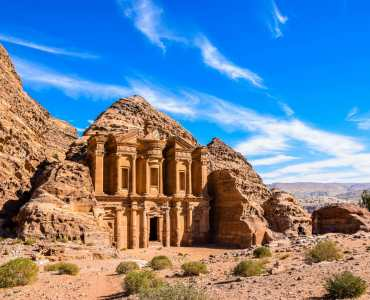 Monastery at Petra, Luxury Holidays and Tours to Jordan with Millis Potter