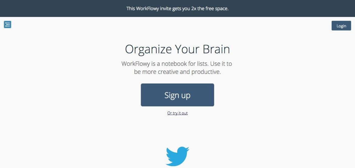 WorkFlowy サイト
