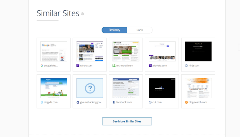SimilarWeb Similar- Sites