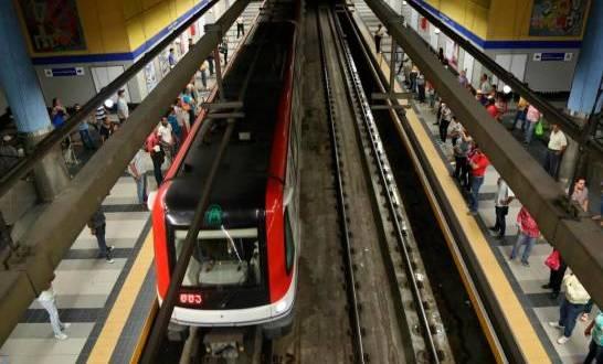 Nueva vez el Metro circula con aglomeración de pasajeros