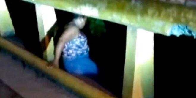 La Vega: Mujer intenta tirarse del puente, policias lo evitan