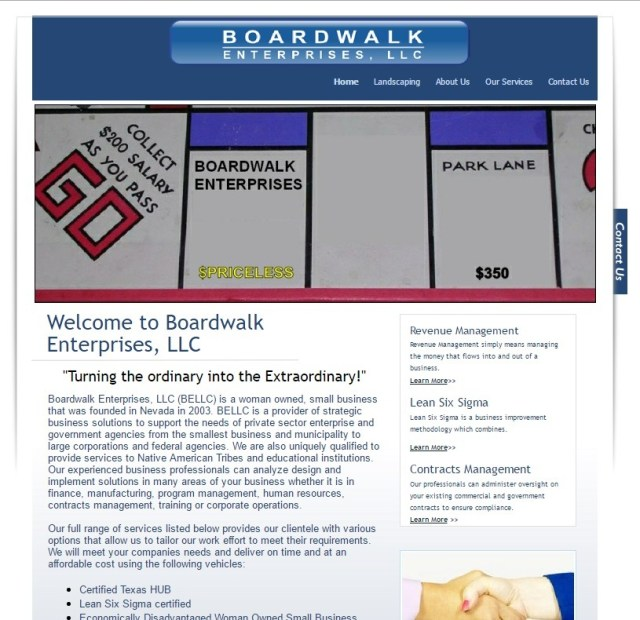 boardwalk Custom Designs-Website