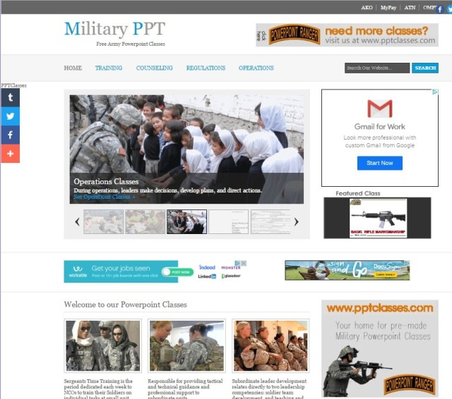 militaryppt Custom Designs-Website