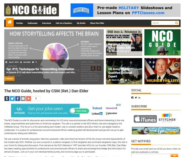www.NCOGuide.net- Website Design