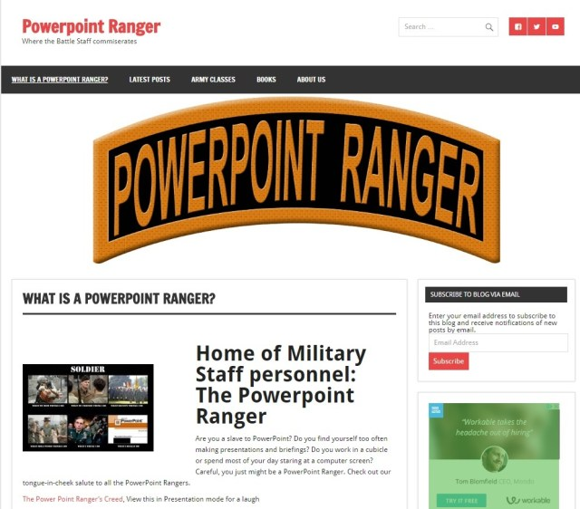 powerpointranger.com- Website Design