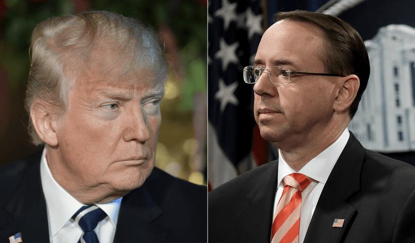 Rosenstein told President Trump he's not a target of Michael Cohen probe