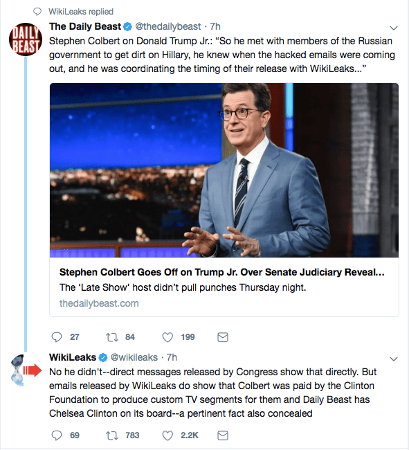 Stephen Colbert paid by the clintons