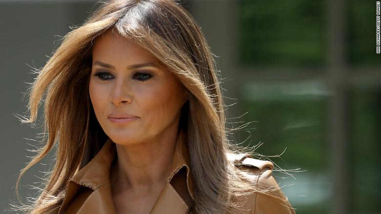 FLOTUS Melania Trump Hospitalized After Kidney Surgery At Walter Reed Hospital