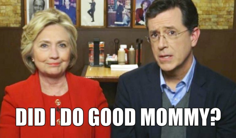 Let's not forget Stephen Colbert is Clinton's little lackey