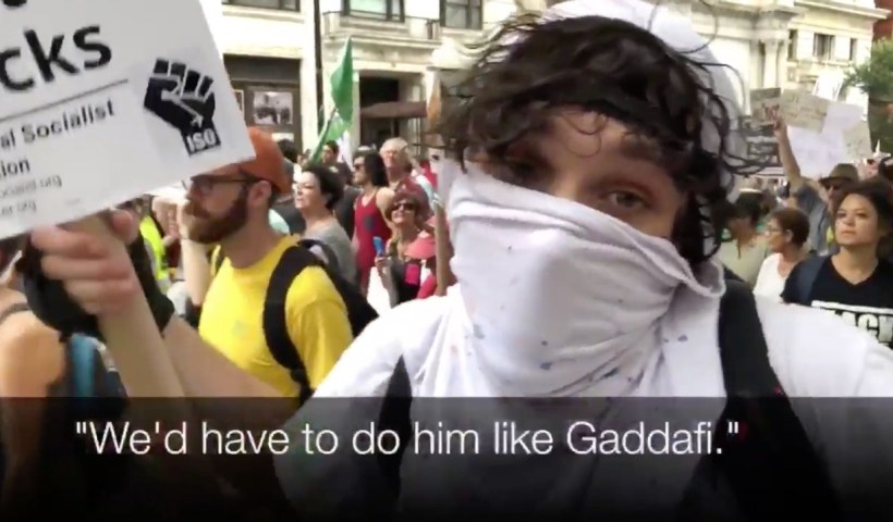WATCH: Antifa Protesters Threaten to Torture and Murder President Trump