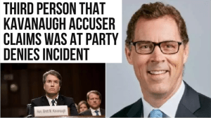 Third person Christine Blasey Ford claims was at party denies incident happened