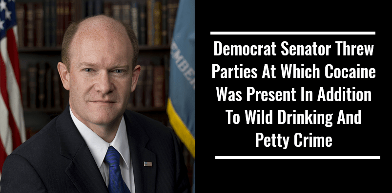 Democrat Senator Threw Parties At Which Cocaine Was Present In Addition To Wild Drinking And Petty Crime