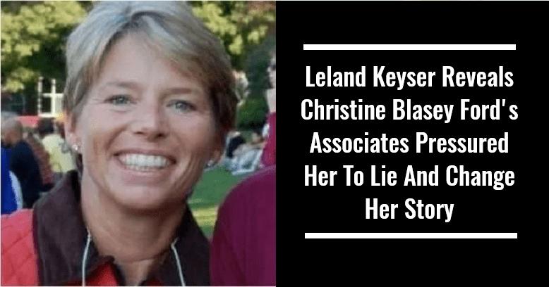 Leland Keyser Reveals Christine Blasey Ford's Associates Pressured Her To Lie and Change Her Story