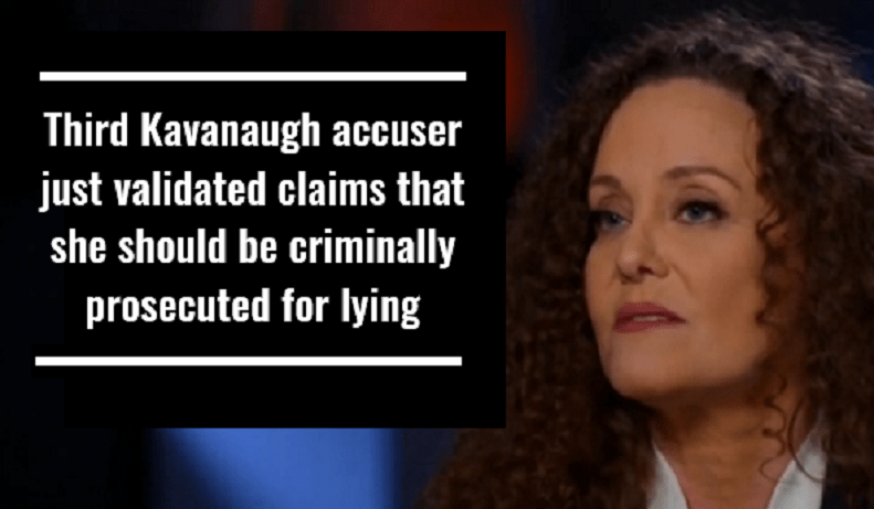 Third Kavanaugh accuser just validated claims that she should be criminally prosecuted for lying