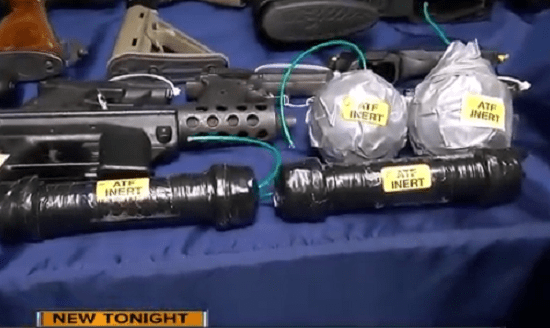 Authorities find rocket launcher, pipe bombs during massive sting on white supremacist gangs