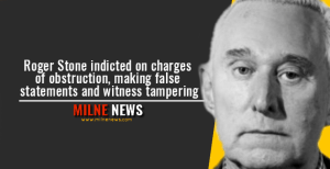 Roger Stone indicted on charges of obstruction, making false statements and witness tampering