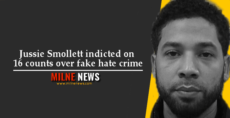 Jussie Smollett indicted on 16 counts over fake hate crime