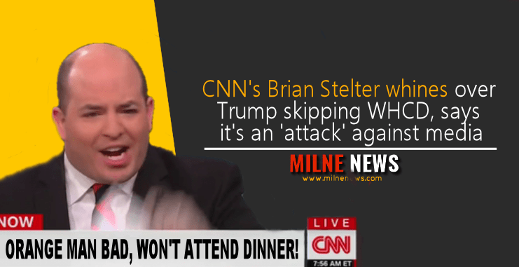 CNN's Brian Stelter whines over Trump skipping WHCD, says it's an 'attack' against media