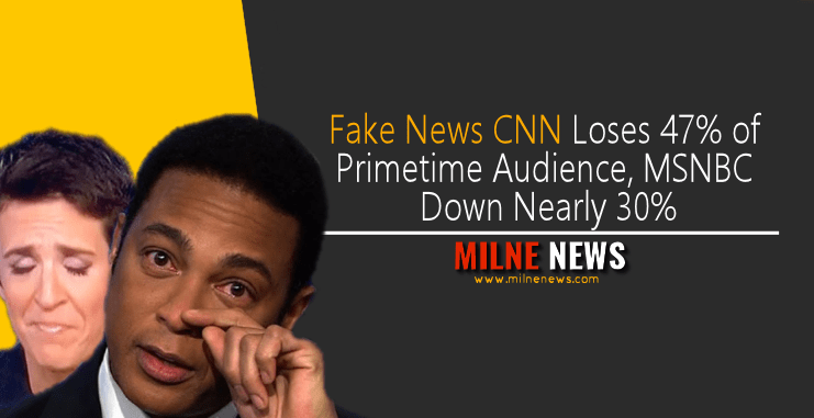 Fake News CNN Loses 47% of Primetime Audience, MSNBC Down Nearly 30%