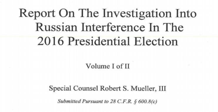 Read Special Counsel Robert Mueller's Full Report