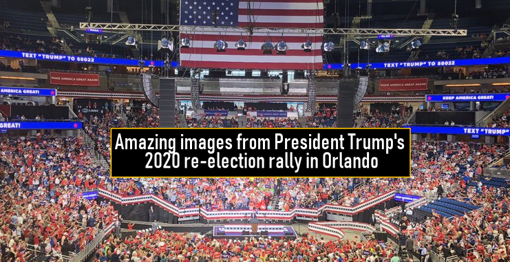 Amazing images from President Trump's 2020 re-election rally in Orlando