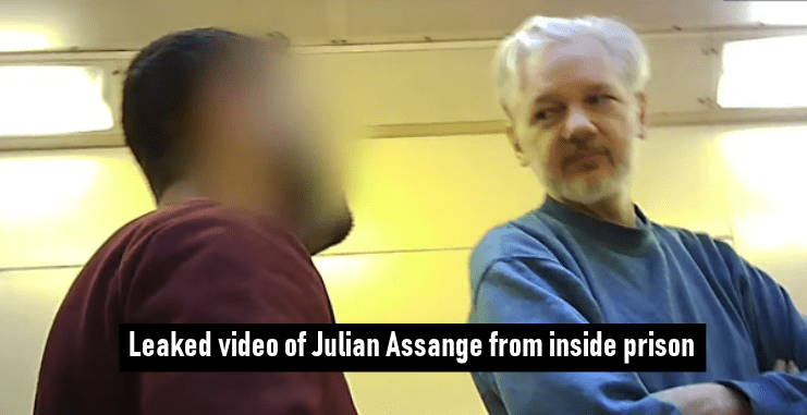 Leaked video of Julian Assange from inside prison