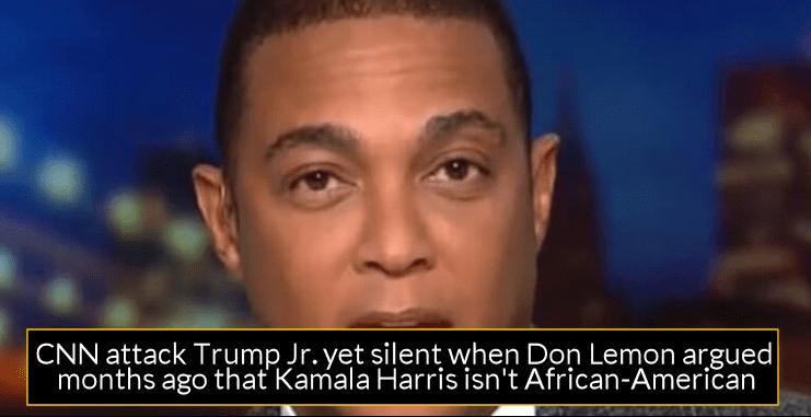 CNN attack Trump Jr. yet silent when Don Lemon argued months ago that Kamala Harris isn't African-American