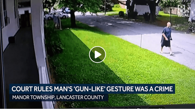 Pennsylvania court rules man's 'gunlike hand gesture' toward neighbor was a crime