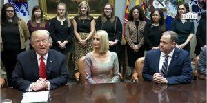 President Trump calls first female spacewalking team to congratulate their historic moment