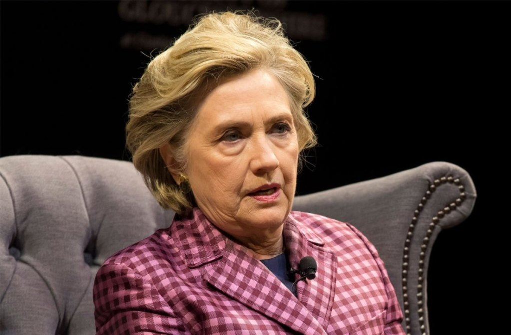 Hillary Clinton says she feels the 'urge' to run against Trump and believes she could beat him