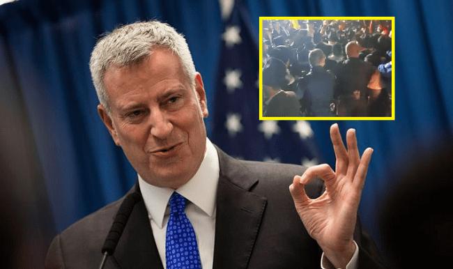 NYC Mayor Bill De Blasio Sends In Police To Break Up Jewish Celebration