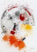 Star Wars Paint Splattered Luke Skywalker