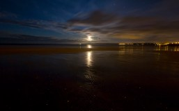 Moon Reflection on Filey Bay