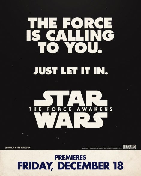 Retro Star Wars The Force Awakens Posters