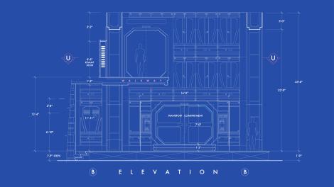 Star Wars The Force Awakens Blueprints of Starkiller Base Elevation B