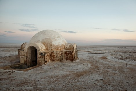 The Lars homestead exterior dubbed The Igloo El-Jerid salt flat Tunisia _ Star Wars Tatooine Location