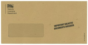 The Galactic Driving Licence Envelope Compare The Market