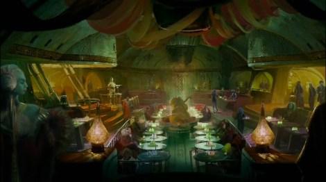 Disneyland 60 Star Wars Land New Concept Art Hi Res MilnersBlog - Jabba's Palace Restaurant