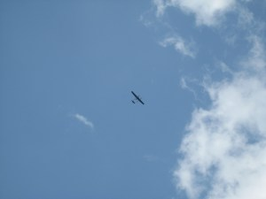 Die Drohne im Flug.