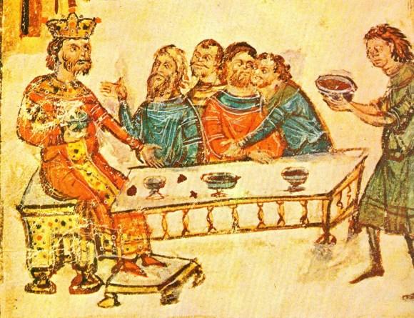 Лобања византијског цара Никифора И је опточена у сребро и претворена у пехар за вино.