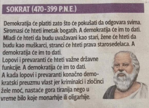 Sokrat o demokratiji
